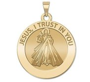 Divine Mercy Round Religious Medal  EXCLUSIVE