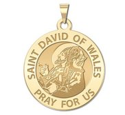 Saint David of Wales Round Religious Medal  EXCLUSIVE