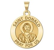Saint Donald Round Religious Medal  EXCLUSIVE