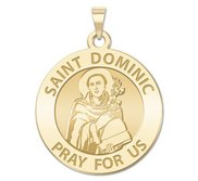 Saint Dominic Round Religious Medal  EXCLUSIVE
