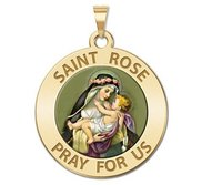 Saint Rose of Lima Religious Medal  Color EXCLUSIVE