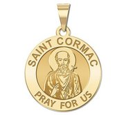 Saint Cormac Round Religious Medal    EXCLUSIVE