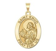 Saint Knud Oval Religious Medal   EXCLUSIVE
