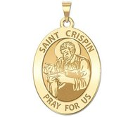 Saint Crispin OVAL Religious Medal   EXCLUSIVE