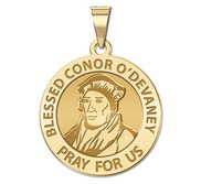 Blessed Conor O Devaney Round Religious Medal  EXCLUSIVE