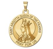 Saint Argotta Queen of the Franks Religious Medal    EXCLUSIVE