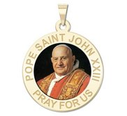 Pope Saint John XXIII Religious Round Medal  Color EXCLUSIVE