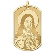 Sacred Heart of Jesus Dog tag Religious Medal  EXCLUSIVE