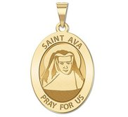 Saint Ava Religious Medal   Oval  EXCLUSIVE