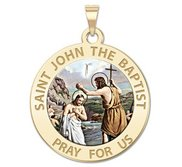 Saint John the Baptist Religious Medal  Color EXCLUSIVE