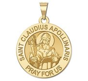 Saint Claudius Apollinaris Round Religious Medal    EXCLUSIVE
