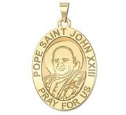 Pope Saint John XXIII Oval Religious Medal  EXCLUSIVE