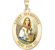 Saint Dymphna Oval Religious Medal  EXCLUSIVE