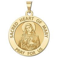 Sacred Heart Or Immaculate Heart of Mary Religious Medal  EXCLUSIVE