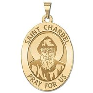 Saint Charbel OVAL Religious Medal   EXCLUSIVE