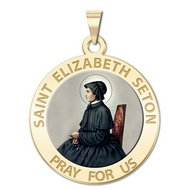 Saint Elizabeth Seton Religious Medal  Color EXCLUSIVE