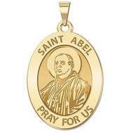 Saint Abel Religious Medal   Oval  EXCLUSIVE