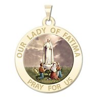 Our Lady of Fatima Religious Medal   Color EXCLUSIVE