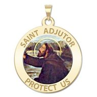 Saint Adjutor Religious Medal   Color  EXCLUSIVE