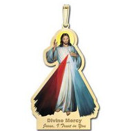 Divine Mercy Outlined Religious Medal  Color EXCLUSIVE