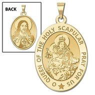 Scapular Religious Medal  OVAL  EXCLUSIVE