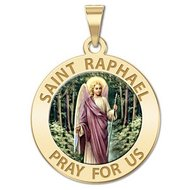 Saint Raphael  Color EXCLUSIVE  Religious Medal