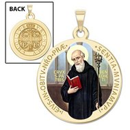 Saint Benedict Religious Medal   Color EXCLUSIVE