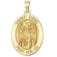 Saint Uriel   Oval Religious Medal  EXCLUSIVE