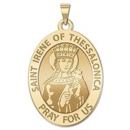 Saint Irene of Thessalonica OVAL Religious Medal   EXCLUSIVE