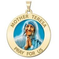 Mother Theresa Religious Medal  Color EXCLUSIVE