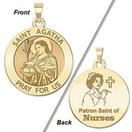 Saint Agatha  Nurse  Religious Medal   EXCLUSIVE
