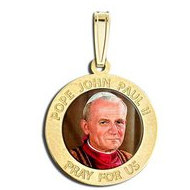 Pope John Paul II Religious Medal  Color EXCLUSIVE