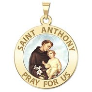 Saint Anthony Religious Medal  Color EXCLUSIVE