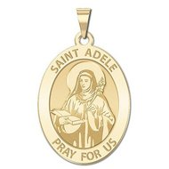 Saint Adele Oval Religious Medal    EXCLUSIVE