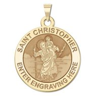 Personalized Saint Christopher Religious Medal    EXCLUSIVE