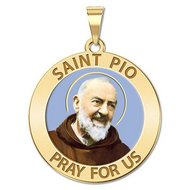 Saint Pio of Pietrelcina Religious Medal  EXCLUSIVE