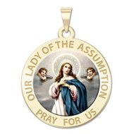Our Lady of the Assumption Religious Medal   Color EXCLUSIVE