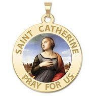 Saint Catherine of Alexandria  Religious Medal    Color EXCLUSIVE
