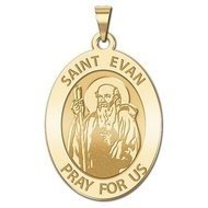 Saint Evan Religious Medal   EXCLUSIVE