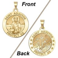 Saint Adjutor Doubles Sided Surfing Religious Medal    EXCLUSIVE