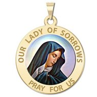 Our Lady of Sorrows Religious Medal  Color EXCLUSIVE