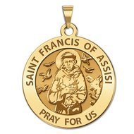 Saint Francis of Assisi Religious Medal  EXCLUSIVE