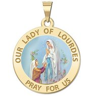 Our Lady of Lourdes Religious Medal    Color EXCLUSIVE