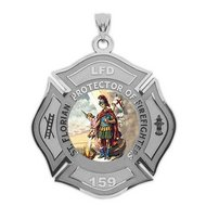 Customized Saint Florian Religious Medal  EXCLUSIVE