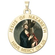 Jesus of Nazareth Religious Medal  Color EXCLUSIVE
