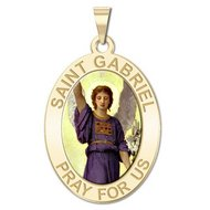 Saint Gabriel Religious Medal   Color EXCLUSIVE