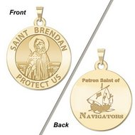 Saint Brendan Double Sided Navigator Religious Medal    EXCLUSIVE