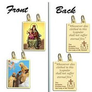 Double Sided Scapular Religious Medals Set