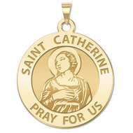 Saint Catherine of Alexandria Religious Medal    EXCLUSIVE