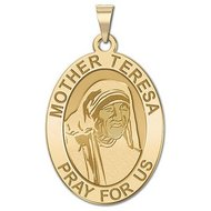 Mother Theresa   Oval Religious Medal  EXCLUSIVE